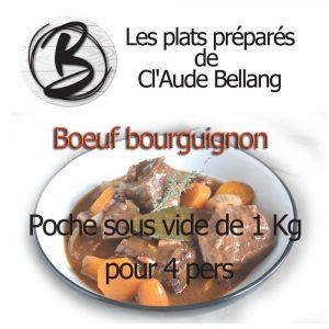 Plat préparé sous vide Bœuf bourguignon