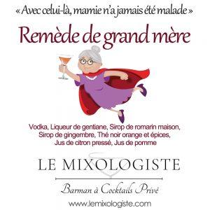 «Remède de grand-mère» Cocktail par Le Mixologiste