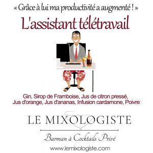 «L'assistant télétravail» Cocktail par Le Mixologiste
