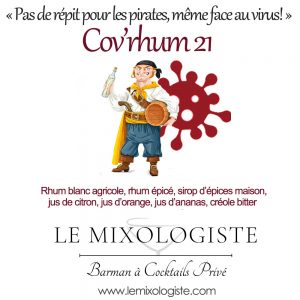 « Cov'rhum 21 » Cocktail par Le Mixologiste