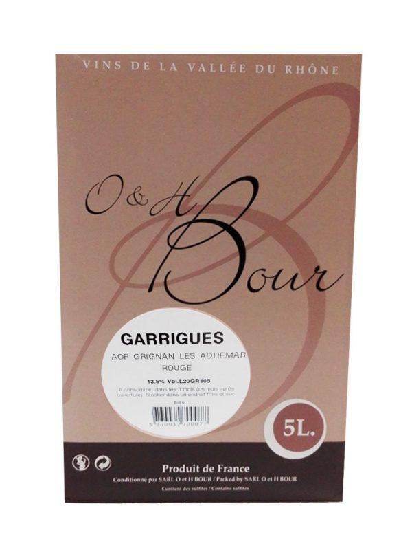 bib 5 L Garrigues Domaine Grangeneuve