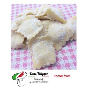 Ravioli 3 fromages (Ricotta, Grana padano, Mozzarella) 500grs