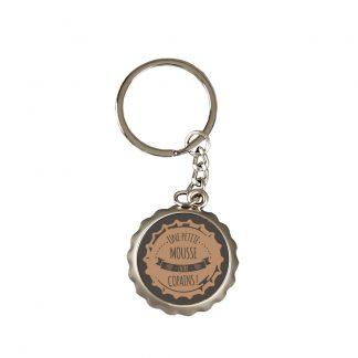 Porte clé décapsuleur «une petite mousse entre copain»