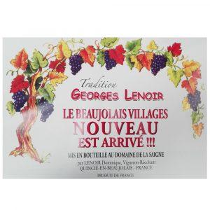 Beaujolais Nouveau Lenoir vendu à partir du 19/11/2020