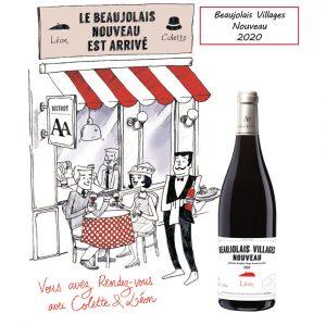 Beaujolais Nouveau Colette et Léon vendu à partir du 19/11/2020