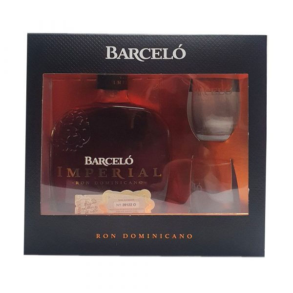 Rhum Barcelo impérial en coffret 2 verres