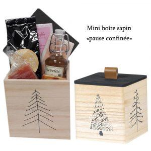 Boite cadeau en bois «Pause confinée»